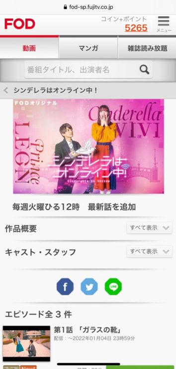 シンデレラはオンライン中(日本リメイク版)の動画無料視聴方法